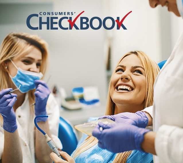 Consumer's Checkbook woman in dental chair